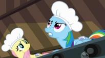 Rainbow Dash tells Applejack to start the machinery S02E14