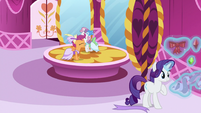 Scootaloo and Sweetie excited for the Gala S5E7
