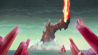 The scepter in the flame-cano creating a powerful blast S6E5