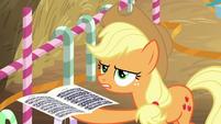 Applejack holding sheet music BGES2