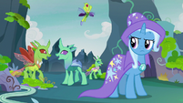 Changelings cheer over Pharynx being gone S7E17