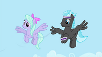 Flitter and Band Pony making a breeze S4E16