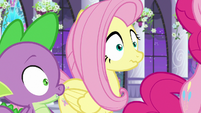 Fluttershy and Spike hear Twilight's voice S9E17