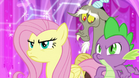Fluttershy and Spike stand in solidarity S9E24