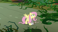 Fluttershy and animals menaced by vines S9E2