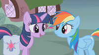Rainbow Dash and Twilight talk about Fluttershy S1E07