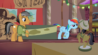 Rainbow Dash following Dr. Caballeron S6E13