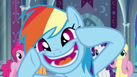 Rainbow grinning wide with excitement S9E1