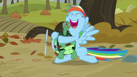 """Rainbow hugging Tank """"I will keep you by my side"""" S5E5"""