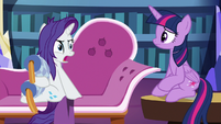 Rarity surprised at Twilight's suggestion S9E19