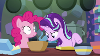Starlight Glimmer looking into the batter bowl S6E21