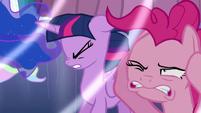 Twilight and Pinkie hear Flurry Heart cry S6E1