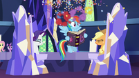 Confetti bursts out of the friendship journal S7E14