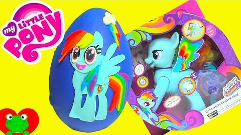 My Little Pony Rainbow Dash Play Doh Surprise Egg with MLP Surprises