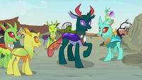 Pharynx surrounded by changeling friends S7E17
