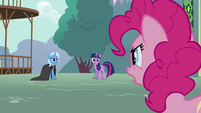 Pinkie Pie getting mad at Trixie S3E5