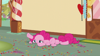 Pinkie in pieces on the floor S5E19