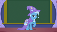 Professor Trixie addressing her students S8E15