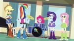 Rainbow Dash addresses her bandmates EG2