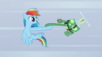 Rainbow spinning around while holding Tank's hands S5E5