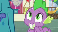 Spike sweating in front of Princess Ember S7E15