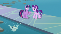 Starlight tosses the EEA guidebook in the lake S8E2