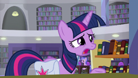 Twilight Sparkle repeating Dusty's name S9E5