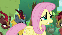 Worried Fluttershy surrounded by Kirin S8E23