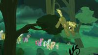 Coco Crusoe drops down from the tree branch S5E26
