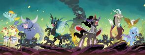 Comic issue 34-37 Hot Topic covers combined by Tony Fleecs
