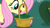 Fluttershy drops vine in her basket S8E18