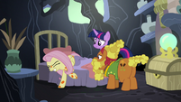 Fluttershy forcing herself out of bed S7E20
