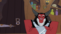 Lord Tirek sulking with frustration S9E17