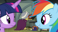 Rainbow Dash 'maybe now would be a good time to...' S4E04