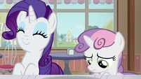 Rarity delighted; Sweetie Belle more discouraged S7E6