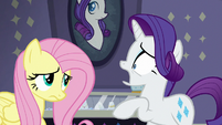 Rarity shocked by normal Fluttershy S8E4
