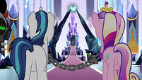 Shining Armor and Cadance in chains S9E1
