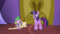 Spike going over the schedule checklist S7E3