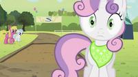 Sweetie Belle hears splat S2E05