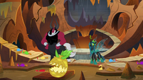 Tirek and Chrysalis see another living pineapple S9E24