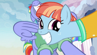 Windy Whistles nodding and grinning S7E7