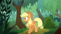Applejack exploring the forest S8E23