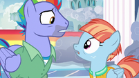 Bow and Windy looking at each other S7E7