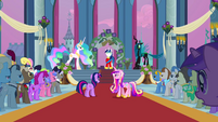 Celestia and Chrysalis faceoff S02E26