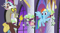 Discord being given a note card S9E17
