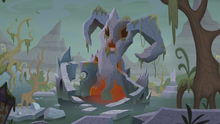 Exterior view of Grogar's lair S9E2.png