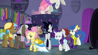 Fluttershy walks away from the stage S8E4