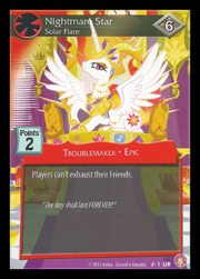 Nightmare Star, Solar Flare card MLP CCG.png