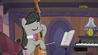 Octavia Melody practicing the cello S5E9