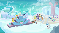 Pegasus foal race award ceremony in Cloudsdale S7E7